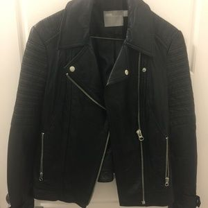 ASOS biker faux leather jacket